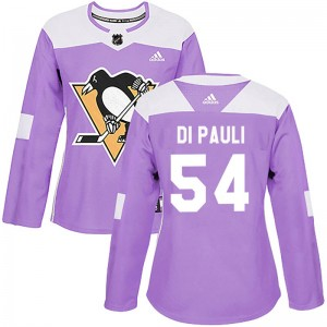 Women's Pittsburgh Penguins Thomas Di Pauli Adidas Authentic Fights Cancer Practice Jersey - Purple