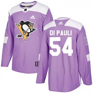 Youth Pittsburgh Penguins Thomas Di Pauli Adidas Authentic Fights Cancer Practice Jersey - Purple